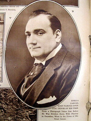 5 1921 NY Times newspapers Opera Singer ENRICO CARUSO VERY ILL - CLOSE TO DYING