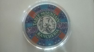 Rare $500 Table Mountain Casino Chip California New Discovery Uncirculated