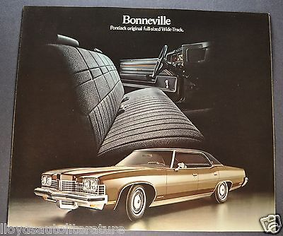 1973 Pontiac Bonneville Sales Brochure Folder Excellent Original 73