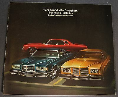 1975 Pontiac Brochure Grand Ville Bonneville Catalina Excellent Original 75