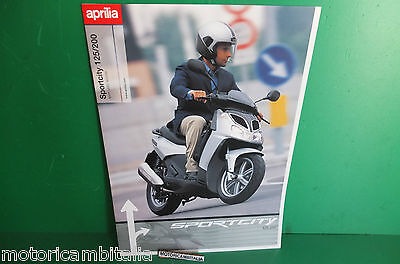 Aprilia Sportcity 125 200 Scooter Catalogo Brochure Depliant Catologue Scooter
