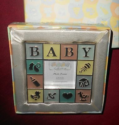 Baby Picture Frame Silver Plated_Baby Raised Letters Decor_Quality Frame NEW