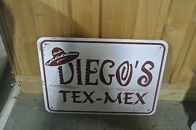 DIEGO'S TEX-MEX & TACO BELL  Interstate Reflective Highway ADVERTISEMENT SIGN
