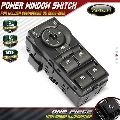 Silver Grey Master Window Switch for Holden Commodore VE With Green Illumination