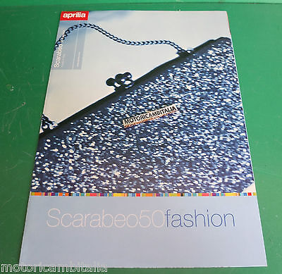 Aprilia Scarabeo 50 Fold Out Scooter Catalogo Brochure Depliant Catologue