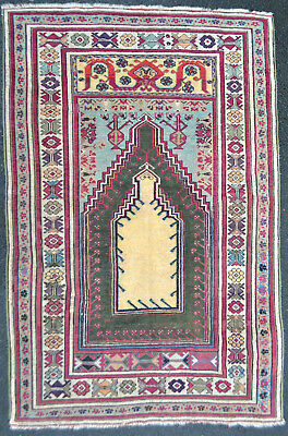 Tapis ancien antique rug Kir Cheir Tribal Anatolie Turc Oriental 1880