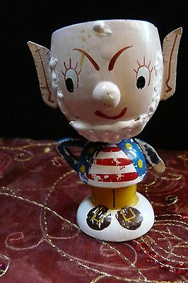 Vintage Fairylite wooden Big Ears ~ Enid Blyton Noddy character egg cup nursery