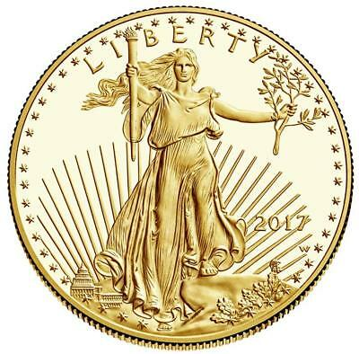 USA - 50 Dollar 2017 - American Gold Eagle - 1 Oz. Gold in Polierter Platte