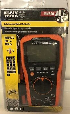 Klein Tools MM600 1000V Auto-Ranging Digital Multimeter - NEW **Free Shipping**
