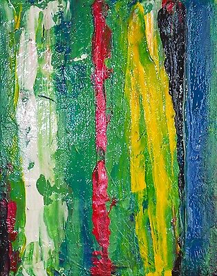 Original abstract acrylic painting on canvas signed artist abstract art US