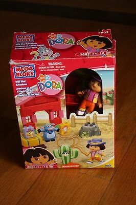 Boxed***mega Bloks Wild West Adventures Inc Dora & Benny***3009 Complete Set