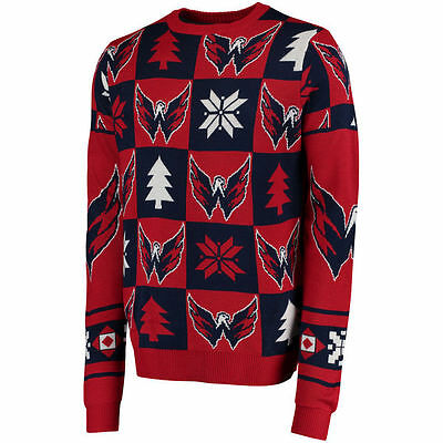 NHL WASHINGTON CAPITALS Eishockey Patches Ugly Sweater Christmas Pullover
