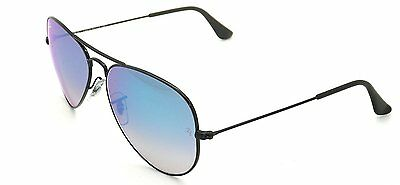 Ray-Ban RB3025 002/4O Black Frame Blue Gradient Flash 55mm Lens Sunglasses