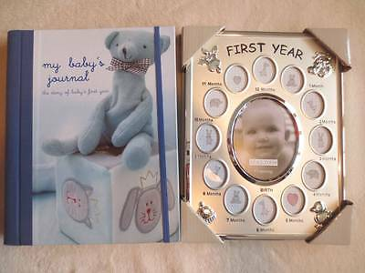 First Year Baby Memories Book and Picture Frame