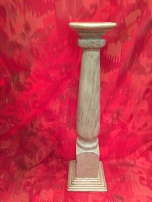 Architectural Salvage Wood Stair Newel Post  Vtg. banister wood pedestal --