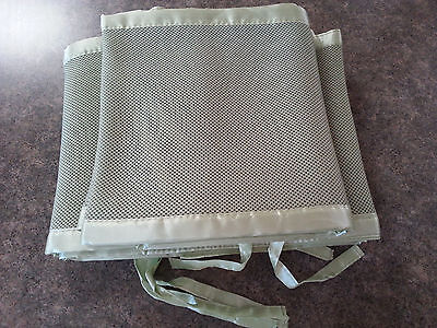 Breathable mesh crib bumpers- sage green