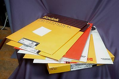 11x14 darkroom papers lot, Kodak Elite, Ilford, Agfa read list 7 packets open