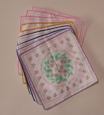 Set of Vintage Ladies Pocket Handkerchiefs