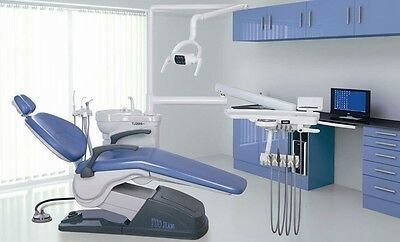 A1 Dental Unit Chair FDA CE Approved PU Leather Computer Control  (DIAMOND BLUE)