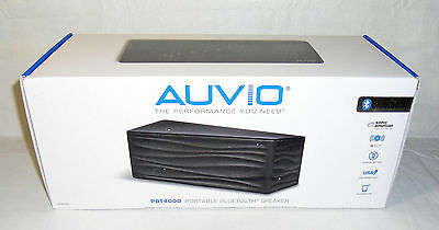 New AUVIO PBT4000 Portable Bluetooth Stereo Speaker USB Charge Port + AUX In