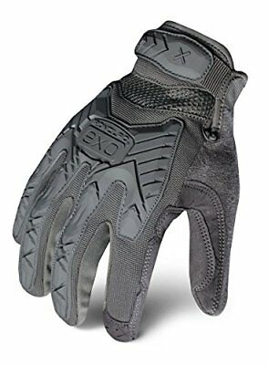 NEW Ironclad EXOT-IGRY-04-L Tactical Operator Impact Glove, Gray, Large