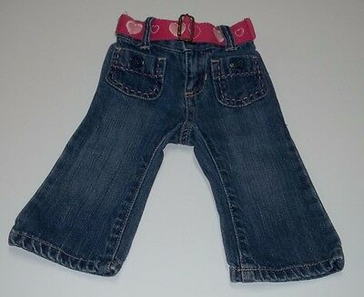 Baby Girl Jeans Size 6-12 Months Old Navy Blue Denim Pants