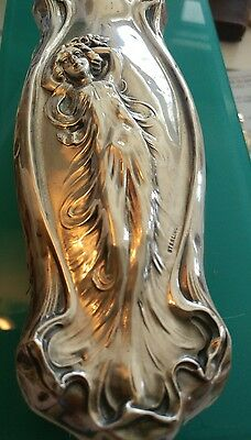 "925 sterling silver Art Nouveau Webster 7"" figural brush"