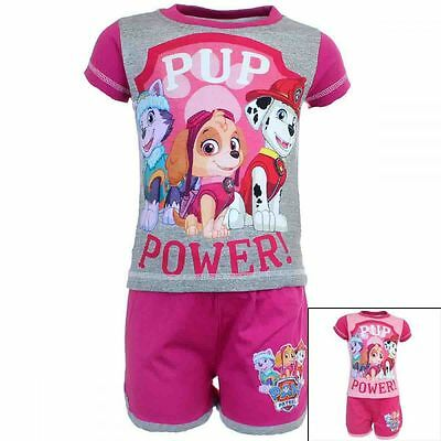 PAW PATROL Girls Short Sleeve T-Shirt Shorts Set