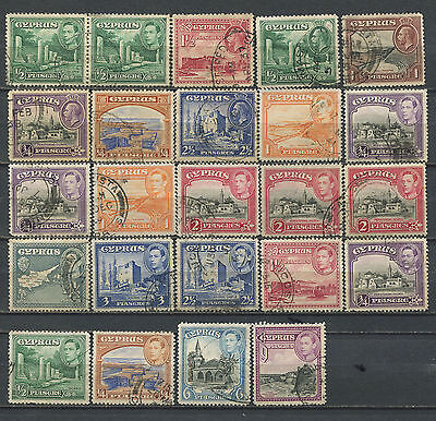 Cyprus KGV KGVI used collection