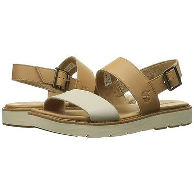 f18a228ec4a5 Womens Timberland Sandals Bailey Park Slingback Beige Leather Shoes NEW