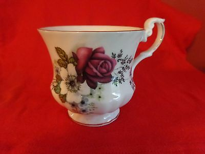 Bone China Teacup Pink and White   Flowers Made in England Cup Only