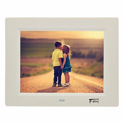 8 Inch 1024x600 Hi-Res LED Digital Photo Frame & HD Video Playback with 8GB SD