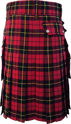 Prime Great Gift Modern Utility Cargo Pocket Wallace Acrylic Wool New Kilts