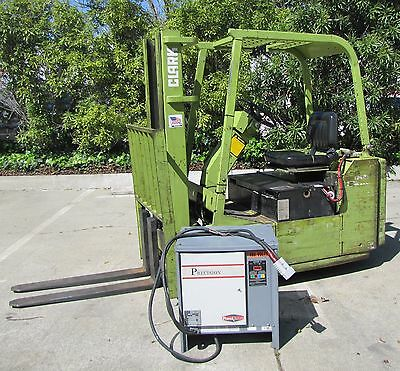 Clarke 3000 lbs Electric Forklift Fork Lift with Charger