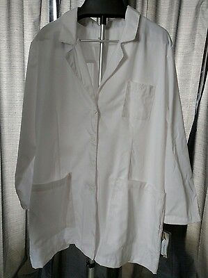 Women's Med Couture White Lab Coat 2 pocket White size 3X