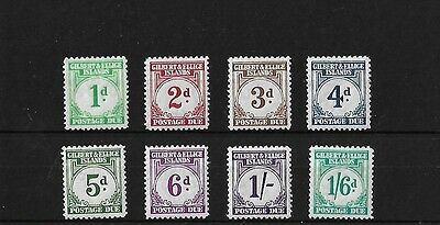 Gilbert & Ellice 1940 Postage Due Set, Lightly Mounted Mint, Sgd1/8, Cat £180