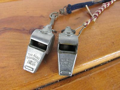 Whistles The Acme Thunderer Made In England Set of 2 RR Conductor Referred