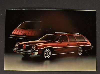 1973 Pontiac LeMans Safari Station Wagon Postcard Brochure Excellent Original 73
