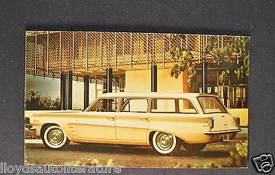 1961 Pontiac Tempest Safari Wagon Postcard Sales Brochure Excellent Original 61