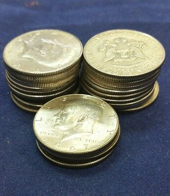 $12.00 Face Value of 40 % Silver Kennedy Half Dollars  24 Coins!!!