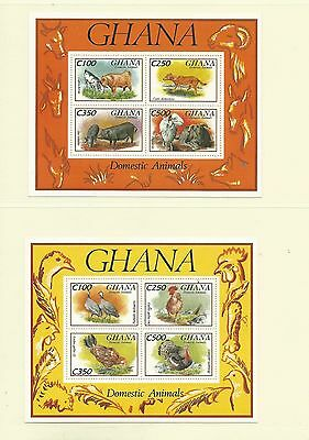 Ghana 1993 Domestic Animals SGMS1897 x2, Cat.£15, mnh.