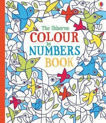 NEW Colour by Numbers Book By Fiona Watt Paperback Free Shipping