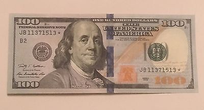 $100 Dollar Star Replacement Note 2009 New York Uncirculated Serial JB 11371513