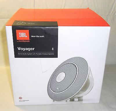 New JBL Voyager Universal Portable Wireless Bluetooth Speaker Rechargeable White