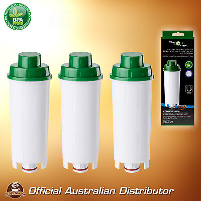 3 x Delonghi DLS C002 Premium Compatible Coffee Water Filter - Replaces SER 3017