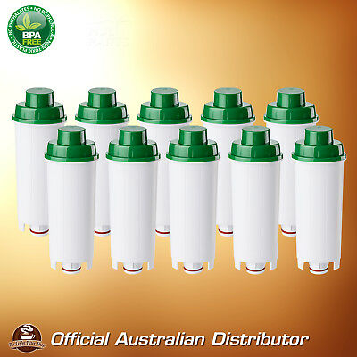 10 x Delonghi DLS C002 Premium Compatible Coffee Water Filter Replaces SER 3017