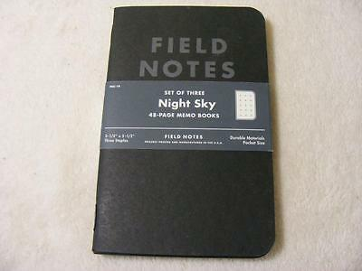 Field Notes Night Sky Unused 3 Pack Set
