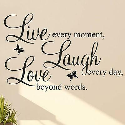 LIVE LAUGH LOVE Quote Vinyl Decal Removable Art Wall Stickers Home Room Decor BO