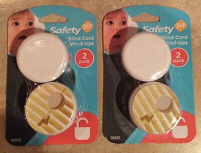 New Matching Set Of 4 Safety 1st Baby Child Infant Blind Cord Wind-ups 2 Pack