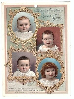 1880 Trade Card Lactated Food for Babies